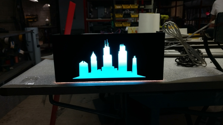 Chicago Skyline Wall Sconce