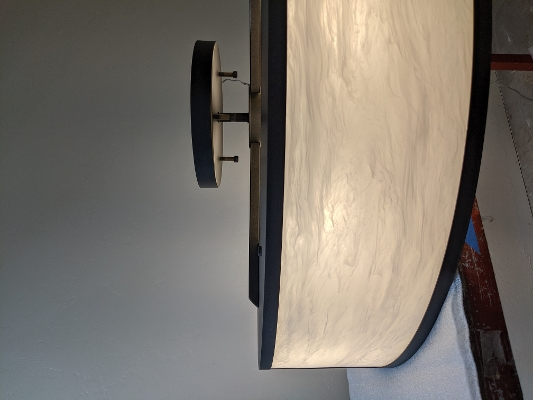 Modified Tambour 17379 Semi-Flush Mount